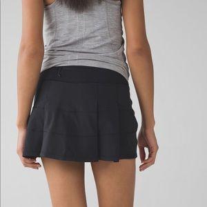 Lululemon pace rival skirt black sz 4